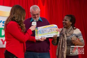 06. Judie surprised this winner with a cheque for £51,534