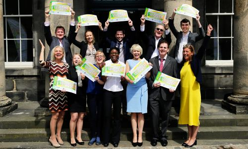 The brilliant winners of the Postcode Lottery Green Challenge Scholarship