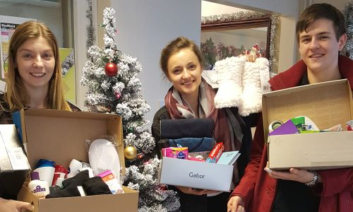 Depaul UK's Advent Box Challenge collects essential items to help young people experiencing homelessness