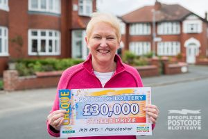 Christine has just returned from Australia visiting her son. She plans to use her winnings to go back next year