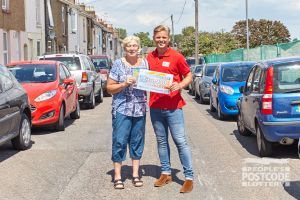 Maureen was over the moon to receive her £30,000 cheque