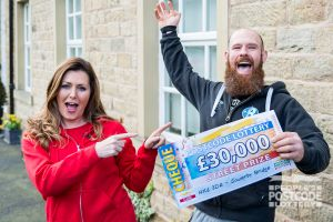 Richard was ecstatic with his £30,000 win