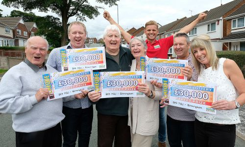 Happy Birmingham winners with Street Prize Presenter Jeff Brazier