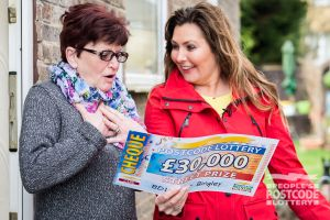 Beverley couldn't believe it when Judie revealed her cheque for £30,000