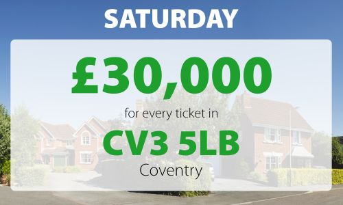 Lady Luck landed in Coventry on Sunday with whopping £30,000 cheques for two very lucky neighbours