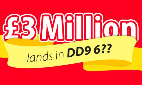 March's £3 Million Postcode Millions lands in postcode sector DD9 6 in Brechin