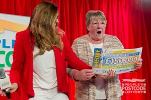 Nothing could prepare Valerie Best for the moment she collected a whopping cheque!