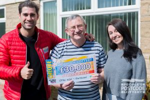 Roger and his wife Lynne are going to use their winnings to spoil their family