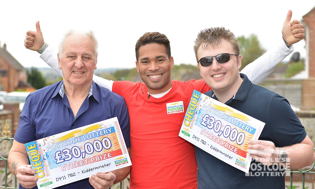 Postcode lottery prizes for points