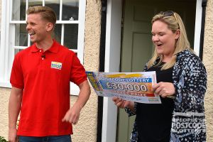 Street Prize Presenter Jeff Brazier was delighted to hand over Kate's £30,000 cheque