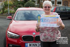 Patricia couldn't believe her luck as she then discovered she had also won a brand new BMW