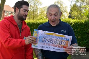 Paul couldn't believe his luck when he was presented with a cheque for £30,000