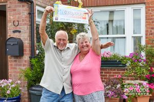Barbara Mogan-Lovett and her husband John were over the moon with their win