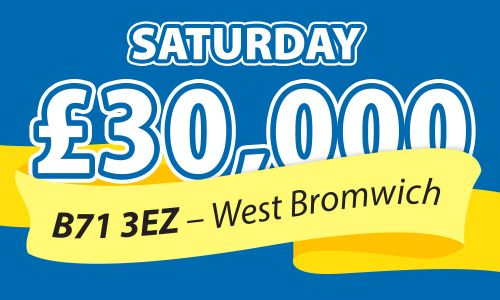 One winner in West Bromwich scooped £30,000 today