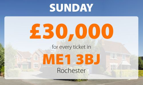 One Rochester player has won a fabulous £30,000 prize this weekend