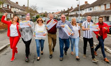 The five stunned winners and presenters in Patchway's lucky street