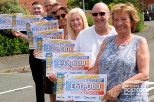 The Tamworth winners were all over the moon with their cheques