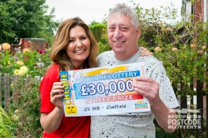 Martin said it was a dream come true to have Judie knocking with a big cheque
