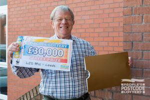 Brian with his fabulous £30,000 cheque