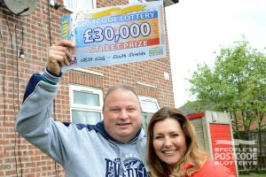Colin couldn't believe his luck in winning £30,000