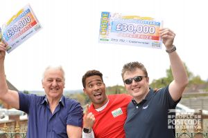 Our father and son winners each collected a whopping £30,000 cheque this weekend