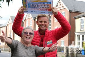 Jeff and Margaret enjoy a whopping win in Ipswich