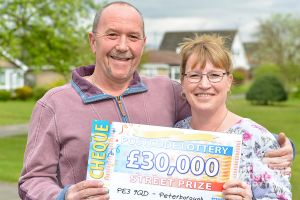Julie and Paul were over the moon with their lucky win