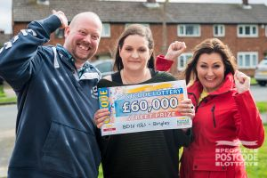 Michelle and her partner Wayne are planning to build an extension with their winnings