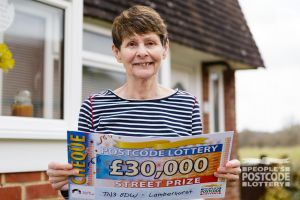 Linda was thrilled with her win, and plans to spend it on her family