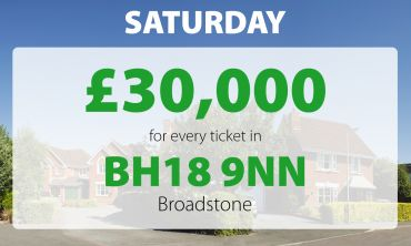 Two Broadstone neighbours have scooped £30,000 thanks to their lucky postcode