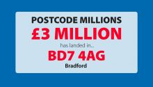 Four Bradford residents in postcode BD7 4AG have lots to be glad about after scooping an amazing £280,724 each