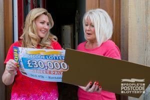 Carolyn was stunned to win an incredible £30,000