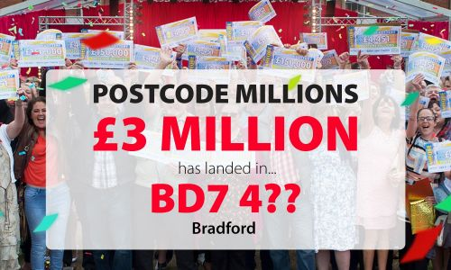 February's Postcode Millions has landed in Bradford postcode sector BD7 4