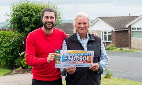 Winner Malcolm has two tickets so won an incredible £60,000