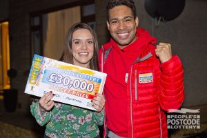 Lucky Montrose winner Cindy with Danyl Johnson