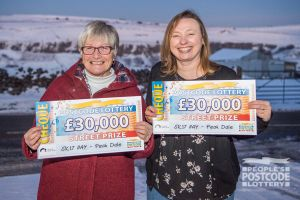 Beryl and Pauline are thrilled with their big win