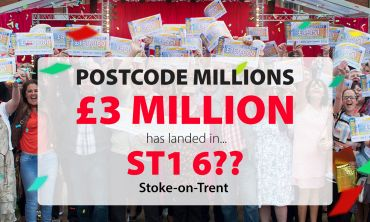 Players in Stoke-on-Trent are in for a Christmas surprise as sector ST1 6 has been drawn as December's Postcode Millions winner