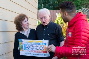 Alan and his partner Dorothy couldn't believe their eyes when Danyl revealed their £30,000 cheque