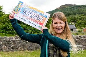 Thanks to playing with two tickets, Helen scooped £60,000