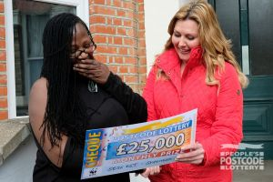 Jennifer said she was stunned to win an incredible £25,000