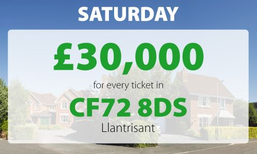 Two lucky winners won £30,000 for each ticket they play with in Saturday's Street Prize