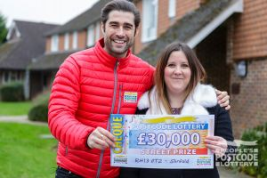 1. Winner Toni was delighted to land £30,000