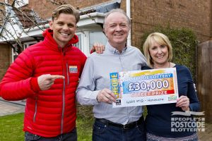 David and his wife Lynne are over the moon with their cheque