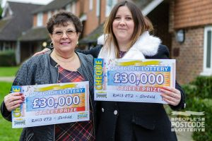 5. Winners Jean and Toni celebrate their £30,000 win
