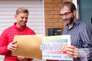 Malcolm was over the moon with his £30,000 win