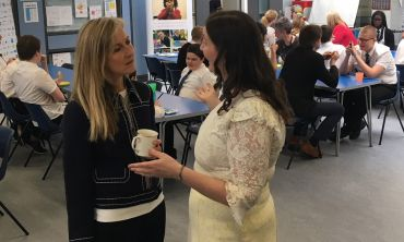 Fiona visited Abercorn Secondary School in Glasgow and met with pupils and the Head Teacher Patricia McGowan