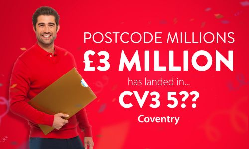 Lucky Coventry players in sector CV3 5 are going to share a fabulous £3 Million prize pot