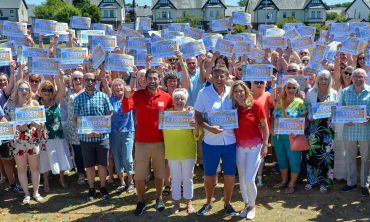 Lucky players in Barrow-in-Furness celebrated sharing £3 Million at June's Postcode Millions party