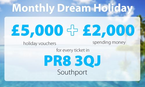 A lucky player from Southport will be packing their suitcases after their Dream Holiday win