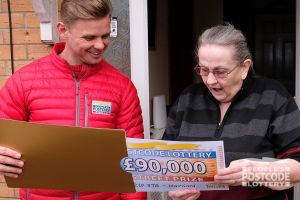 Winner Anne discovers how much she has won in Sunday's Street Prize